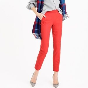 [J. Crew] Martie Slim Crop Stretch Coral Pant